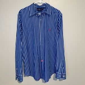 RALPH LAUREN Custom Fit Mens XL Dress Shirt